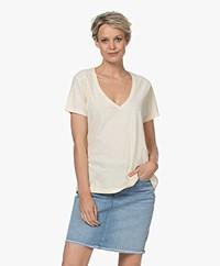 Denham Ramona Slub Jersey T-shirt - Apricot Gelato Geel