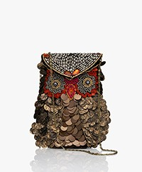 by-bar Cross-body Owl Bag - Goud