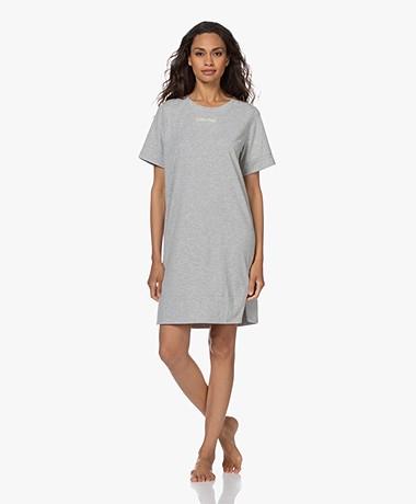 Calvin Klein Reconsidered Comfort Jersey Nightshirt - Grey Heather
