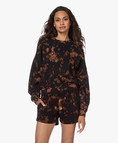 bassike Cropped Jersey Print Sweatshirt - Bleach Motley