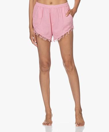 Love Stories Mabel Crinkle-Katoenen Shorts - Bubblegum