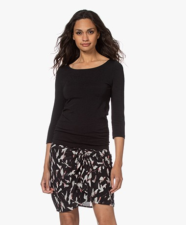 Wolford Cordoba Cotton Blend T-shirt - Black