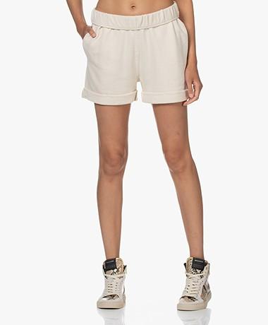 FRAME Rolled Up Pima Katoenen Shorts - Bone