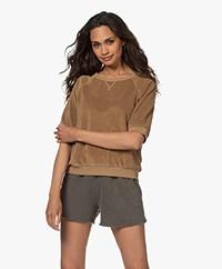 by-bar Neva Slub French Terry Sweater - Dry Khaki