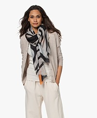 LaSalle Wool Scarf with Print - Eye