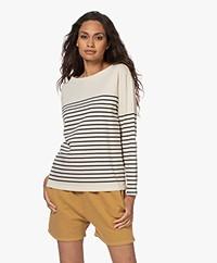 Closed Striped Cotton Long Sleeve - Dark Night
