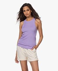 Drykorn Eyre Rib Knit Silk Blend Top - Purple