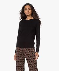 ba&sh Clara Cotton-Modal Blend Long Sleeve - Black