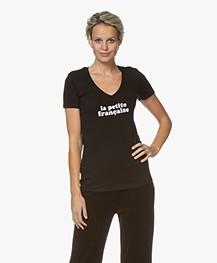 La Petite Française Thibault Logo T-Shirt - Zwart