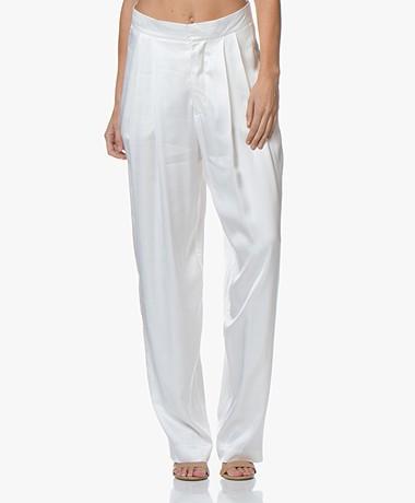 Resort Finest Fico Loose-fit Satijnen Pantalon - Off-white