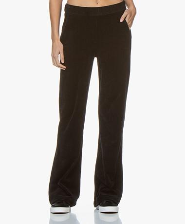 Majestic Filatures Jersey Velvet Rib Pants with Cashmere - Black