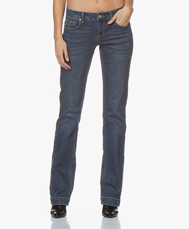 MKT Studio The Janis Wilson Flared Jeans - Blue Spence R Wash