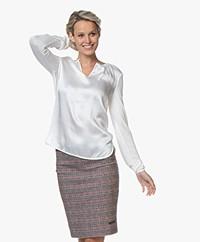 Josephine & Co Gill Silk Front Blouse - Ecru