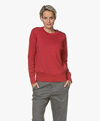 Petit Bateau Lurex Pullover - Red