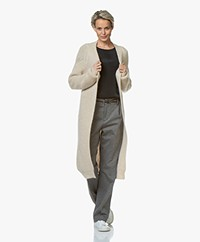 by-bar Berry Long Mohair Mix Open Cardigan - Sand