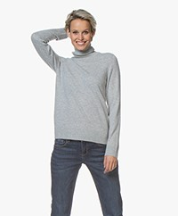 Repeat Luxury Cashmere Turtleneck - Light Grey