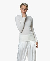 Closed Rib Jersey Turtleneck Sweater - Ivory