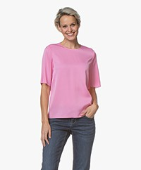 Filippa K Silk Tee - Waterlily