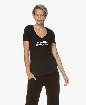 La Petite Française Thibault Logo T-Shirt - Black