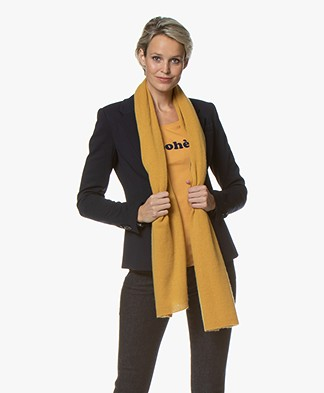 Repeat Cashmere Sjaal - Curry