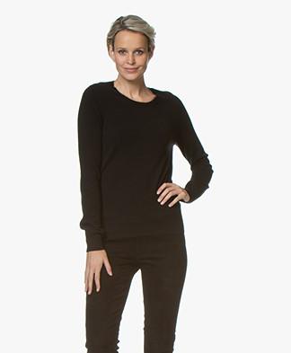 Repeat Round Neck Cashmere Sweater - Black