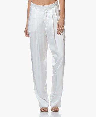 Resort Finest Fico Loose-fit Satijnen Pantalon - Off-white