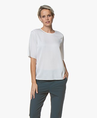 Filippa K Silk Tee - White