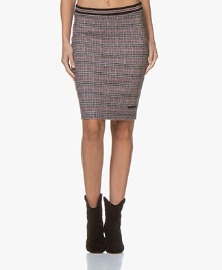 Josephine & Co Gijsje Checked Skirt - Tomato Red