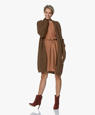 Drykorn Jeyla Long Open Cardigan - Brown