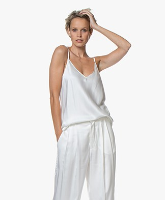 Resort Finest Satijnen Camisole Top - Off-white