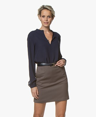 Filippa K Ada Tunic Blouse - Midnight Blue