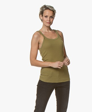 American Vintage Rizalay Ribbed Tank Top - Bush