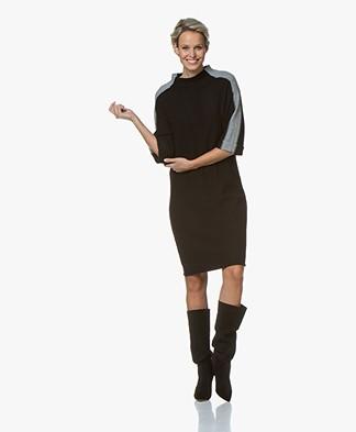 Josephine & Co Gabriella Knitted Wool Blend Dress - Black/Grey