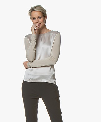 Belluna Lobelia Long Sleeve with Silk Front - Champagne