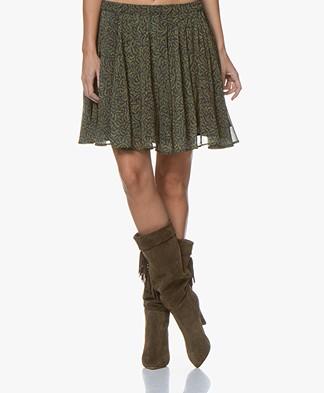 American Vintage Inostate Pleated Print Skirt - Golden Bracken