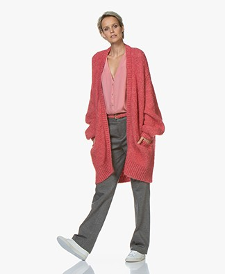 by-bar Mirjam Oversized Open Vest - Roze