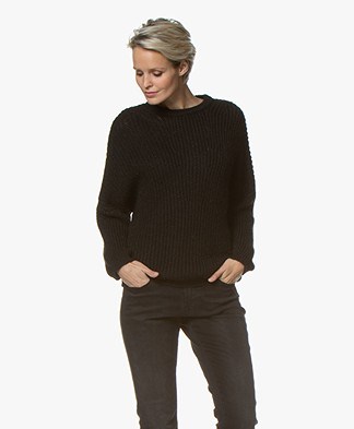 BY-BAR Milou Mohair Blend Sweater - Black