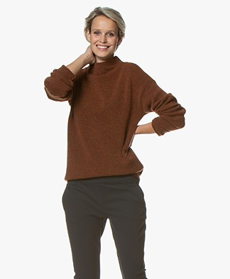 BY-BAR Moss Wool Blend Sweater - Terracotta
