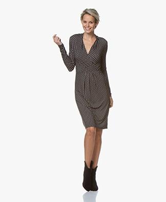 Belluna Scott Jersey Print Dress - Black/Grey