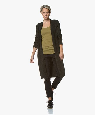 by-bar Nisa Allegra Open Cardigan - Forest Green