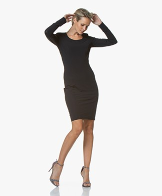 Josephine & Co Gasparo Travel Jersey Dress - Navy