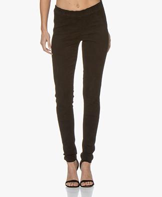 Repeat Luxury Suede Slim-fit Pants - Black