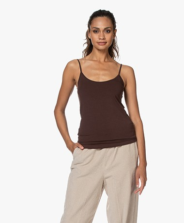 Majestic Filatures Anais Soft Touch Jersey Spaghettitop - Coffee