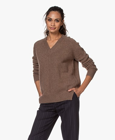 Vanessa Bruno Patience Wool and Yak Blend Sweater - Castor