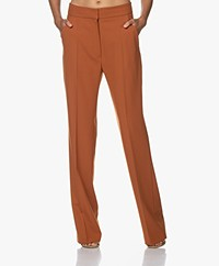 Vanessa Bruno Pilou Straight Leg Pants - Cinnamon