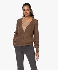 Majestic Filatures Alpaca Blend Button-through Cardigan - Cappuccino