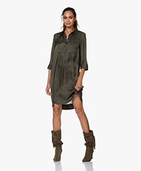 Zadig & Voltaire Roa Japanese Satin Dress - Khaki