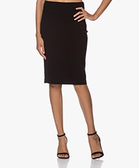 Kyra & Ko Claudia Bi-stretch Crepe Jersey Pencil Skirt - Black