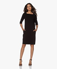 Kyra & Ko Berry Bi-stretch Crepe Jersey Dress - Black