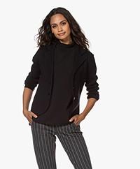 Kyra & Ko Jewel Knitted Cotton Blend Blazer - Black